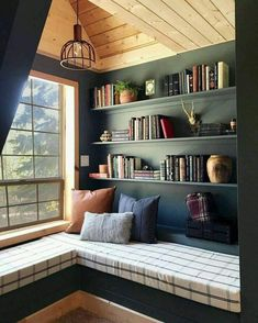 Home Library Rooms, Home Library Design, Home Libraries, Home Interior Design, House Design, Library Ideas, Garden Design, Garden Art, Interior Ideas