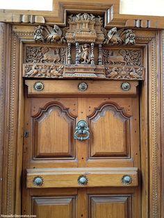 Thalai Vaasal The Ornate Main Door Of A Chettiar House