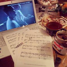 Friday  #sweety #hello #adele #piano #sheetmusic #SamTsui #CaseyBreves #KurtScheider #cover #friday #afternoon #nutella #mango #tea #winter #december #christmas #feeling #gingerbread by lilybaranyi