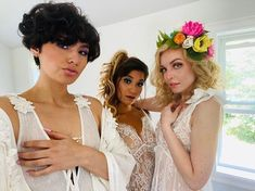Here's a sneak peek to a BTS with this amazing girl gang! Stay tuned for more... Bridal Boudoir, Girl Gang, Stay Tuned, Flower Girl Dresses, Bts, Photoshoot, Wedding Dresses, Videos, Amazing