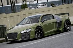 Military inspired Audi R8.  That car literally looks good no matter what you do to it. I want it.