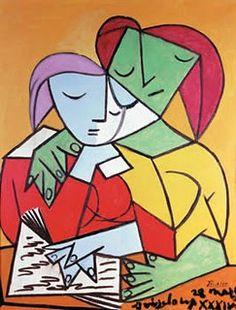 dos mujeres leyendo de pablo picasso - Buscar con Google