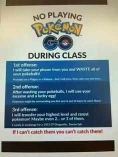 No pokemon go during class   #pokemon #pokemongo #valor #mystic #instinct #team #pokeball #funny