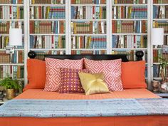 Wallpaper that looks like bookshelves! How quirky-cool is that? #hgtvmagazine http://www.hgtv.com/decorating-basics/the-makings-of-a-fun-house/pictures/page-6.html?soc=pinterest