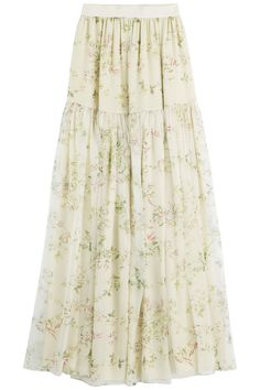 Floral Chiffon Maxi Skirt from GIAMBATTISTA VALLI | Luxury fashion online | STYLEBOP.com