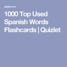 1000 most common spanish words pdf