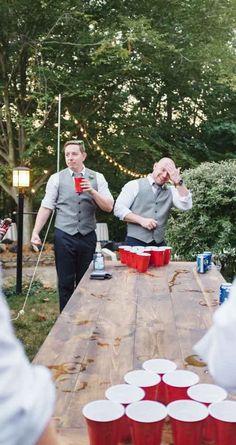 Beer Pong at my wedding :) #BackyardWeddingIdeas