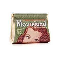 Charlotte Olympia Movieland Embroidered Clutch (€495) ❤ liked on Polyvore featuring bags, handbags, clutches, print handbags, charlotte olympia, embroidered handbags, charlotte olympia clutches and embroidered purses