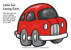 Little car lacing card