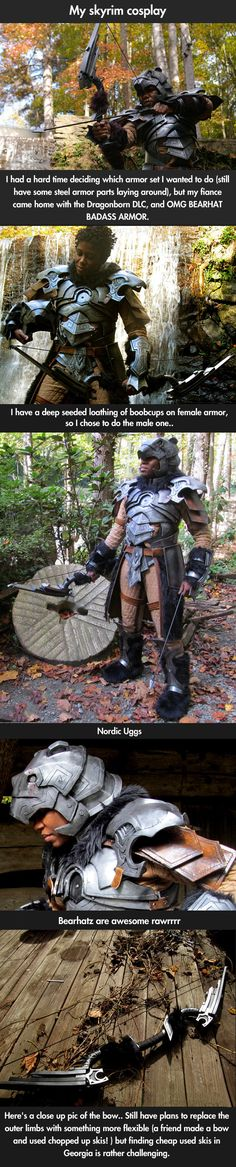 Amazing Skyrim Nordic armor cosplay. The level of dedication and skill that went in to this is awesome.