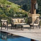 RST Brands Astoria 5-Piece Cafe Patio Dining Set with Delano Beige Cushions-OP-ALTS5-AST-DEL-K - The Home Depot
