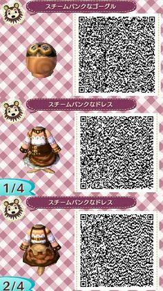 Animal Crossing New Leaf QR Code; Steampunk
