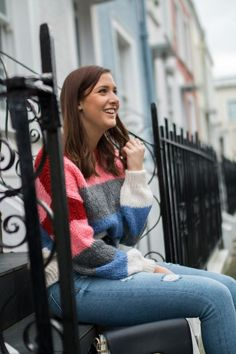 Colourful stripe new look jumper street style blogger London | Stepping Out Of My Comfort Zone | Lauren Rose Style | Bloglovin'