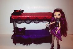 Doll Furniture - Bunk Beds Ever After High Monster High Barbie Raven Apple White