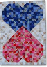Download the Two Hearts in Love Quilt Pattern
