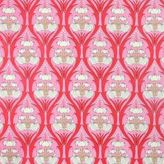 Laminated Cotton Fabric Passion LIly Pink by Amy by oilclothaddict, $18.00