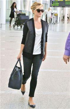 leather panel jacket #reese