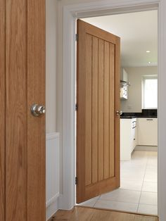 Cottage style #oakdoor.  Popular style that suits classic & modern interiors. JB Kind's River Oak Cottage - Thames II #interiordoor