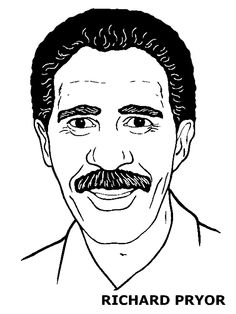 Black History Month: Coloring book pages of famous African ... richard pryor