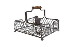 Country Chic Wire Mesh Napkin Holder With Wood Handle – Home of Temptations Interior Design Furniture, Decor & Gifts Kitchen Furniture, Furniture Decor, Furniture Design, Character Home, Wire Mesh, Shabby Chic Homes, Industrial Chic, Country Chic, Rustic Wood