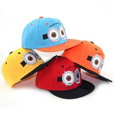 BOY GIRL DESPICABLE ME 2 MINION DAVE KID CHILD ADJUSTABLE BASEBALL HAT CAP NWT