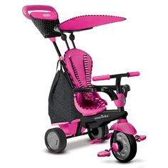SMART TRIKE #Dreirad Glow 4in1 mit Touch Steering Pink | Babyartikel.de