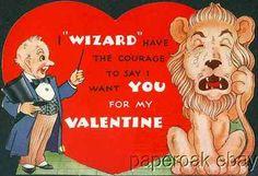 1939 Valentine with Cowardly Lion The Wizard from 1939 Wizard of oz Movie | eBay