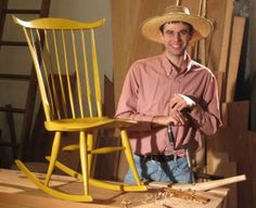 """Elia Bizzarri - Elia is a professional Windsor chairmaker, who also handcrafts chairmaking tools and turned parts for chairmakers. He teaches chairmaking in his Chatham County, NC workshop and at the John C. Campbell Folk School. The North Carolina Museum of Art gallery featured his work in conjuction with the touring exhibition """"American Eden: Landscape Paintings of the Hudson River School from the Collection of the Wadsworth Atheneum Museum of Art."""""""