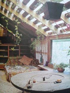 dormitorio, flores, casa, habitación