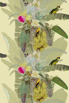 Palm Wallpaper, Print Wallpaper, Pattern Wallpaper, Tropical Wallpaper, Botanical Wallpaper, Lucienne Day, Vintage Style Wallpaper, Timorous Beasties, Bungalow Renovation