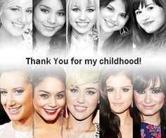 Ashley Tisdale (Suite life), Vanessa Hudgens (HSM), Miley Cyrus (Hannah Montana), Selena Gomez (Wizards of Waverly Place) and Demi Lovato (Sonny With a Chance) Disney Stars, Disney Love, Disney Magic, Disney Cast, Selena Gomez, Demi Lovato, Old Disney Shows, Sonny With A Chance, Old Disney Channel