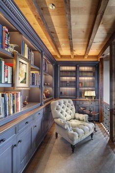 54 Ideas Home Library Room Dreams Built Ins Home Design, Home Library Design, Home Interior Design, Library Ideas, Design Ideas, Cozy Library, Library Inspiration, Attic Design, Interior Paint