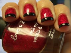 Forever 21 ~ Red with black tips.  I will be ready for my Huskers to play!!