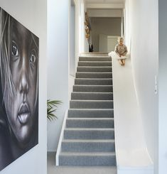 This freshly renovated family home has the coolest boho-chic style, stairs slide Home Room Design, Dream Home Design, Home Interior Design, Diy Slides, Indoor Slides, Indoor Slide Stairs, Boho Chic Interior, Bohemian Bedroom Design, Stair Slide