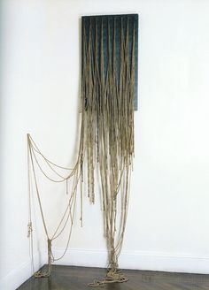 """""""Ennead"""" Eva Hesse, 1966. Helen Molesworth argues that her work challenges """"the austere aesthetic of Minimalism...her work evokes instead the organic and erotic, emptiness and decay."""""""