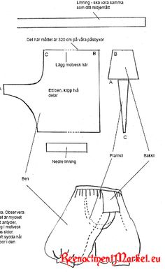 Scandinavian / Viking/Rus/Varangian Trousers - Pasbyxor