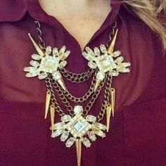 I just discovered this while shopping on Poshmark: SALE! Baublebar Spiked Lily Necklace. Check it out!  Size: OS
