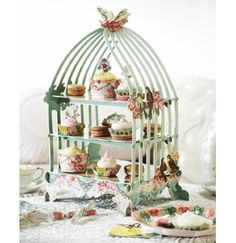 Pastries and Pearls-Birdcage Cake Stand-Talking Tables Designers of Stylish Partyware