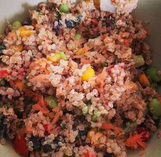 """My take on """"fried"""" vegetable rice but with quinoa"""