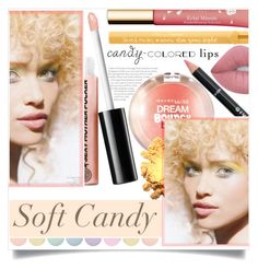 """Soft Candy"" by captainsilly ❤ liked on Polyvore featuring beauty, Givenchy, Soap & Glory, Maybelline, Clarins, Deborah Lippmann, Too Faced Cosmetics and Lime Crime"