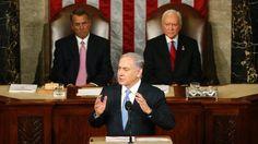 """Teherans """"Tentakel des Terrors"""": Netanjahu zerlegt Obamas Prestigeprojekt. Israels Premierminister Netanjahu legt sich offen mit der US-Regierung an: Bei seinem umstrittenen Auftritt in Washington kritisiert er das geplante Abkommen mit dem Iran als falsch und gefährlich. """"Die größte Bedrohung für unsere Welt ist der Bund des Islam mit Atomwaffen."""" - 3. März n-tv.de"""