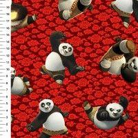 Tecido Tricoline Digital  Kung Fu Panda