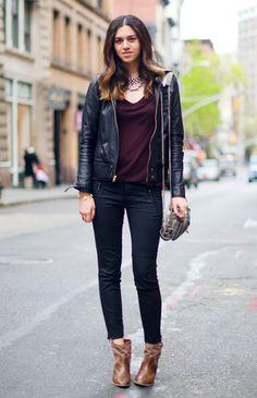 J Brand jeans, Ash boots and an Alexander Wang bag.