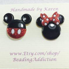 Disney Earrings Mickey Mouse Earrings Minnie by BeadingAddiction
