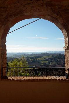 View over the hills from a pictoresque corner in Murisengo - Monferrato _ Piedmont - Italy