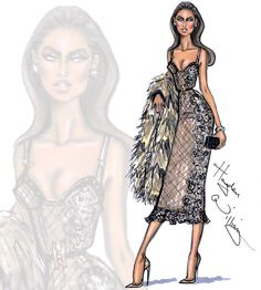 Hayden Williams Fashion Illustrations | 'Luxurious Taste' by Hayden Williams