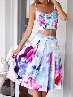 White Floral Print Condole Belt 2-in-1 Backless Midi Dress - Midi Dresses - Dresses