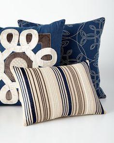 Mora Navy throw pillow. Home Accessories We Love at Design Connection, Inc. | Kansas City Interior Design http://www.DesignConnectionInc.com./Blog
