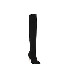 Office Neve Over The Knee boots Black Suede - Knee Boots