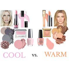 Fashion set Cool Vs Warm created via Soft Summer Makeup, Spring Makeup, Summer Skin, Cool Skin Tone, Colors For Skin Tone, Cool Summer Palette, Seasonal Color Analysis, Color Me Beautiful, Warm Spring